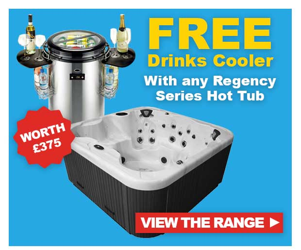 Free Drinks Cooler with Regency Spas Hot Tubs