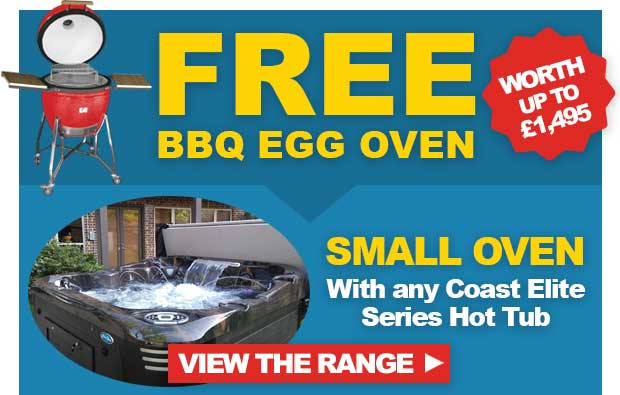 Free Small BBQ Egg Oven with Coast Elite Series Hot Tub