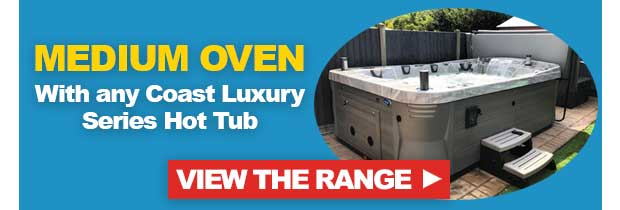 Free Medium BBQ Egg Oven with Coast Luxury Series Hot Tub
