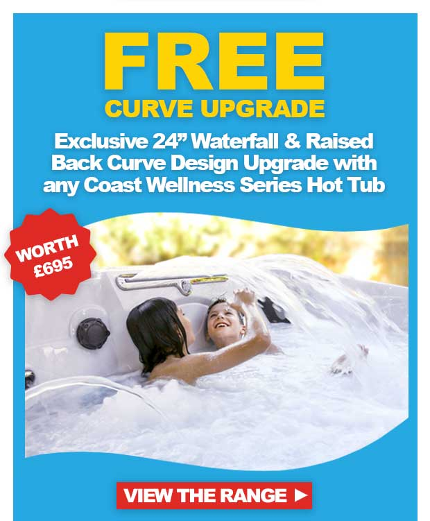 Free Upgrades - Worth £695 with Coast Wellness Series Hot Tubs