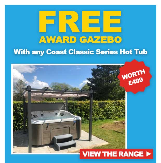 Free Gazebo with Coast Spas Classic Series Hot Tubs